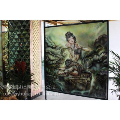四川成都超世纪艺术教堂手绘玻璃批发零售厂家