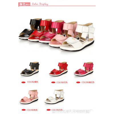 15厂家 夏季新款儿童凉鞋公主鞋真皮女 韩版女童凉鞋防滑耐磨
