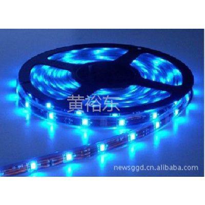 供应高亮度 LED贴片 灯带 灯条 5050 30珠(蓝)滴胶 套管防水