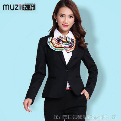2015春季新款女式外套 韩版修身职业商务装女士小西装 厂家批发