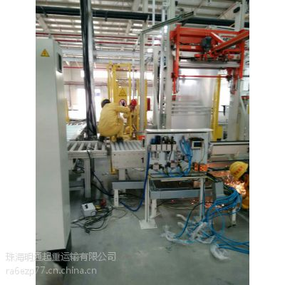 明通吊装-中山市明通为海尔集团进口滚筒洗衣机生产线作业