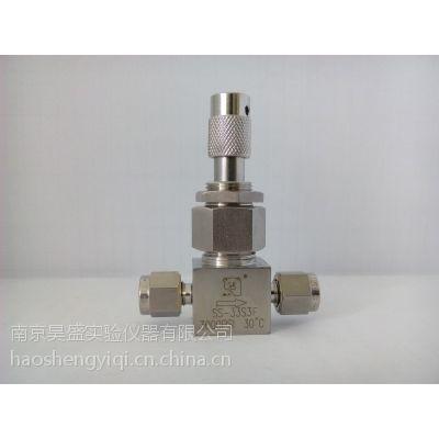 316不锈钢公英制直通/两通调节阀/稳流阀 实验室气路工程配件