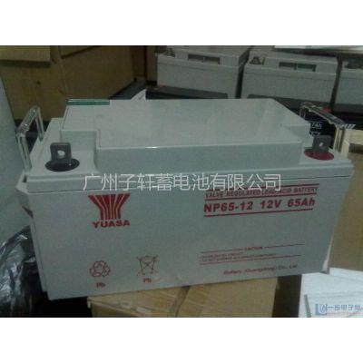 供应汤浅电池,广东总代,价格优惠,供应NP65-12,12V65AH