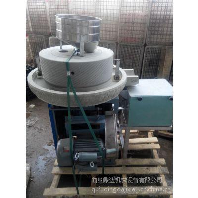小型面粉石磨机 面粉加工机电动石磨机 鼎达粮食加工设备
