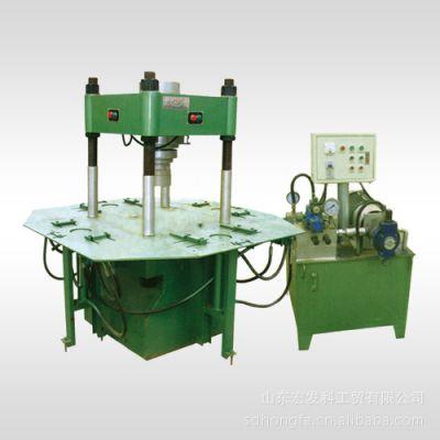 山东宏发供应HF-150T四柱式液压成型机 制砖机 砌块成型机