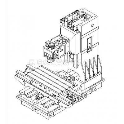 供应台正立式加工中心光机TOM-1270工作台面尺寸 700*1360