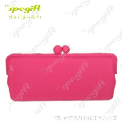促销硅胶零钱包收纳包手袋包韩国可爱女士糖果色眼镜包钥匙包批发