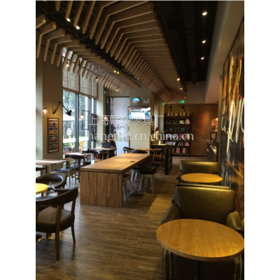 普陀区西餐厅家具定制 HR-C115简约西餐厅桌子定制 上海韩尔家具厂