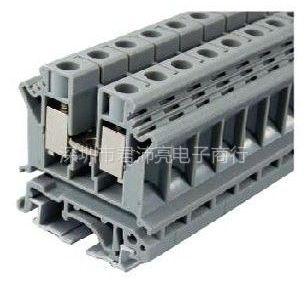 供应君沛亮电子UK10N-10平方灰色一进一出导轨式接线端子