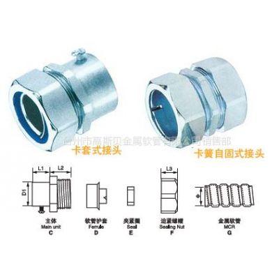 供应厂家供应接头、卡套式接头、自固式接头、卡簧自固式接头、加厚型锌合金镀锌接头