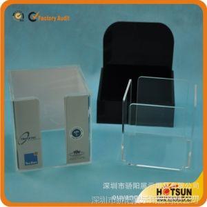 供应批量生产透明度高亚克力盒子制品 名片盒 便签盒