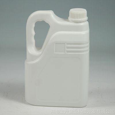 品质款润滑油/机油塑料壶 高档PE加厚化工液体扁方包装壶批发