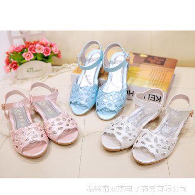 童鞋儿童凉鞋2015夏季新款女童凉鞋韩版公主鞋大童沙滩鞋特价清仓