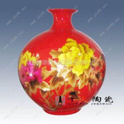 供应供应麦杆画花瓶,景德镇陶瓷厂,麦秆瓷工艺品装饰