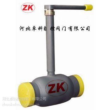 卓科牌供暧供然气埋地加长杆球阀 浮动固定球阀 一体式全焊接球阀