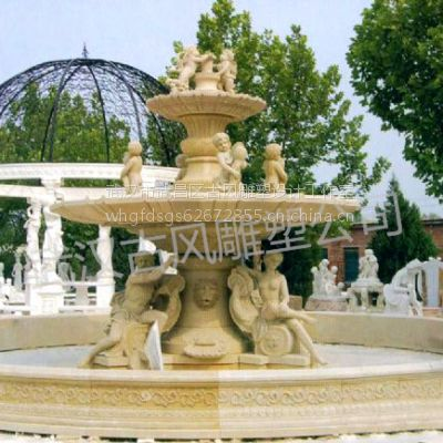 供应砂岩喷泉雕塑,园林景观人造砂岩雕塑