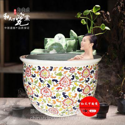 上海极乐汤大泡澡缸 陶瓷洗浴大缸 和艺陶瓷冲澡缸