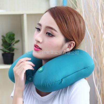 按摩枕 颈椎按摩枕 粒子填充U型枕 电动按摩U枕 保健产品健康礼品