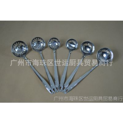 厂家直销 日式厨房铲勺用品 不锈钢大漏勺