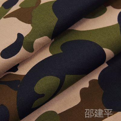 现货供应 40S*40S全棉印花扎染布 100%棉迷彩印花军装用纱卡