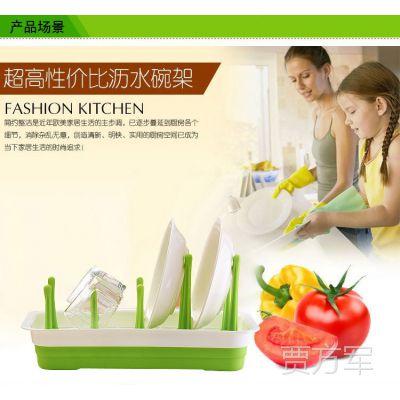 专利厨房用品 塑料餐饮用具收纳清洁架 创意礼品 杯碟沥水架