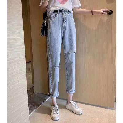 贵州省贵阳市尾货便宜牛仔裤批发弹力小脚牛仔裤新款秋装处理牛仔