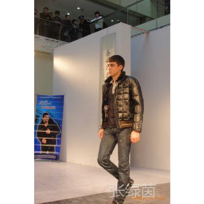 2015品牌直销欧美风格男式羽绒皮衣尼克服 批发零售皮毛一体皮衣