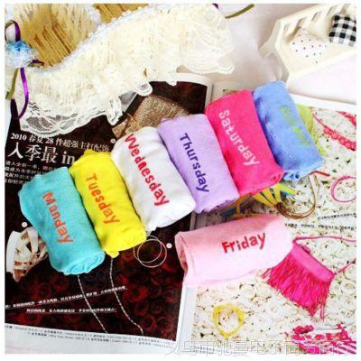 义乌厂家直销 韩国盒装礼品星期创意袜 男女袜子批发城 天猫货源