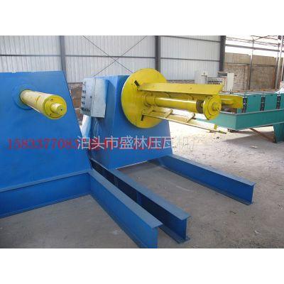 供应供应盛林压瓦机5吨液压放料机(带小车)