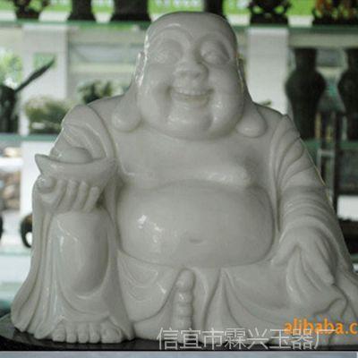 供应玉器 雕刻 工艺品 佛像 座件 汉白玉 玉弥佛像