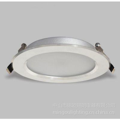 铭欧照明7W超薄筒灯草帽灯 LED射灯 厨房吊顶装饰灯 暗装高光银开孔105MM
