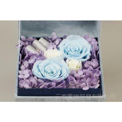 浪漫情人节礼品永生花玫瑰创意保鲜花小星花成品送礼礼盒加工定做