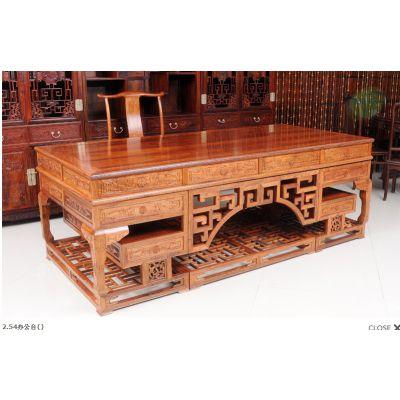 供应红木办公桌图片大全 刺猬紫檀办公桌款式大全 酸枝实木鸡翅木办公家具价格 名琢世家