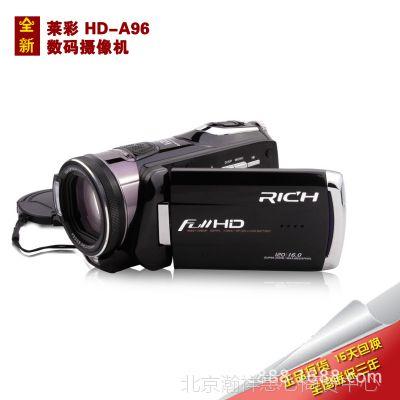 原装正品 RICH/莱彩 HD-A190/A96 高清数码摄像机 12X光变 触摸屏