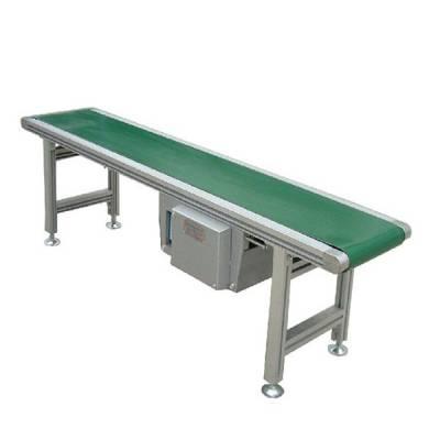 汇众食品车间用铝型材带式输送机 绿色PVC食品分拣用流水线