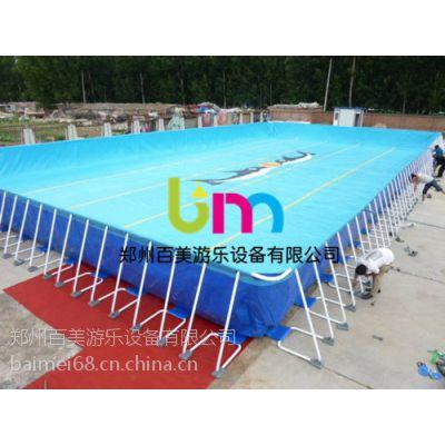 南阳小型移动水上乐园,支架游泳池一年四季都可经营收益丰