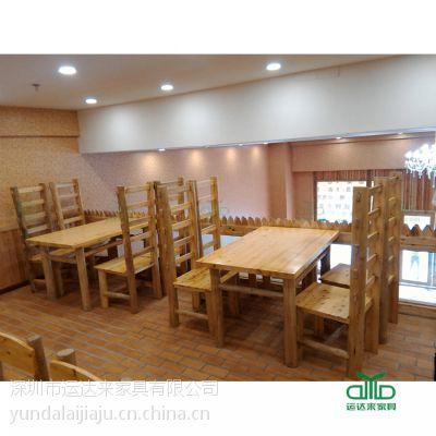 现代中式实木餐厅桌椅 饭店餐厅餐桌 多人实木餐桌 运达来家具厂家