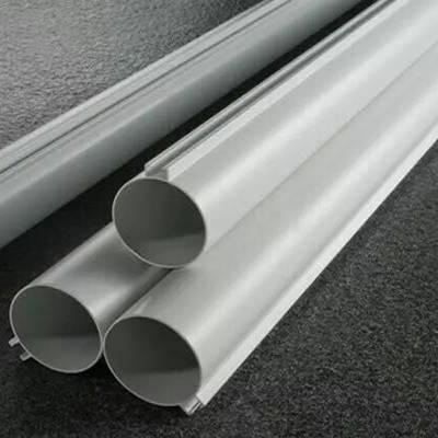 信阳铝型材装饰生产商专业定制冲孔U型铝方通木纹铝方管铝合金圆管天花吊顶幕墙隔断环保型材