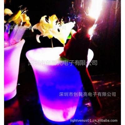 供应LED七彩变色冰桶 广告冰桶 发光冰桶 香槟桶 酒吧冰桶