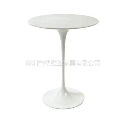 供应深圳纳维亚家具高级郁金香餐桌子,经典个性时尚全玻璃钢餐桌