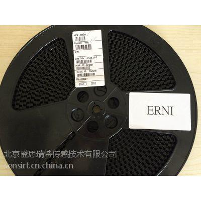 ERNI恩尼公型弯脚式黑色4针PCB连接器384471
