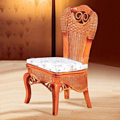 供应东莞藤家具 餐桌椅 手工编织藤椅 古典风格 厂家批发 3003