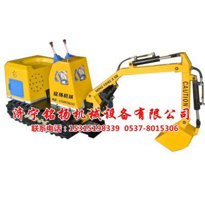 儿童挖掘机多少钱一台?济宁铭扬机械儿童游乐电动挖掘机玩具厂家