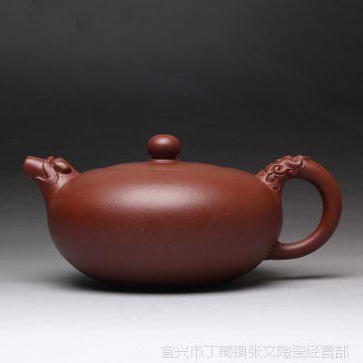 一公紫砂100%纯正品质宜兴正品原矿紫砂手工制作茶具底槽青麒麟壶
