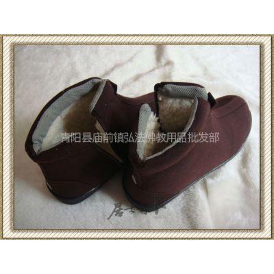 供应师傅冬季增高加绒僧和尚鞋咖啡色黄色僧鞋居士鞋批发供养布施僧众