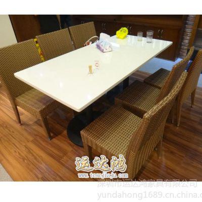 供应厂家定做实惠款茶餐厅餐桌 中高档品味大理石餐桌 沙发舒旭金属椅子