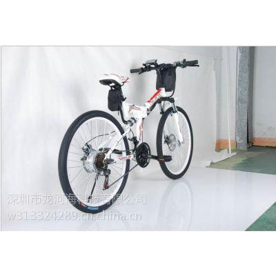 富比特锂电池电动车 超强续航碟刹变速助力折叠山地自行车单车