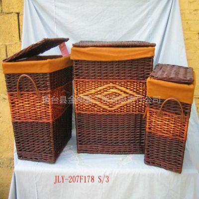 供应柳编 收纳盒 野餐篮 小柜子