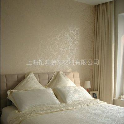 供应植绒壁纸 卧室床头 电视背景墙 促销墙纸