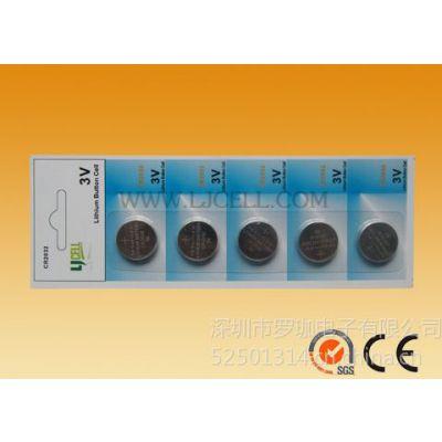 供应特价批发纽扣电池 5粒卡装电脑主板纽扣电池 CR2032 3V锂电池
